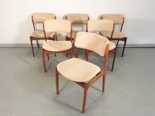 ERIC BUCK ROSEWOOD CHAIRS SET OF 6