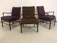 EARLY OLE WANSCHER COLONIAL CHAIRS SET OF 3
