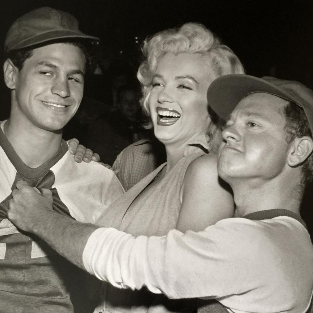 1952 Marilyn Monroe & Mickey Rooney Baseball Game SIGNED Limited Edition Oversize Photo 17x22 Murray Garrett