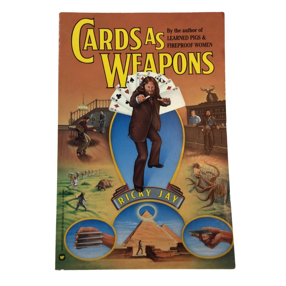 [Ricky Jay] Cards As Weapons, 1988 Second Impress Paperback Book