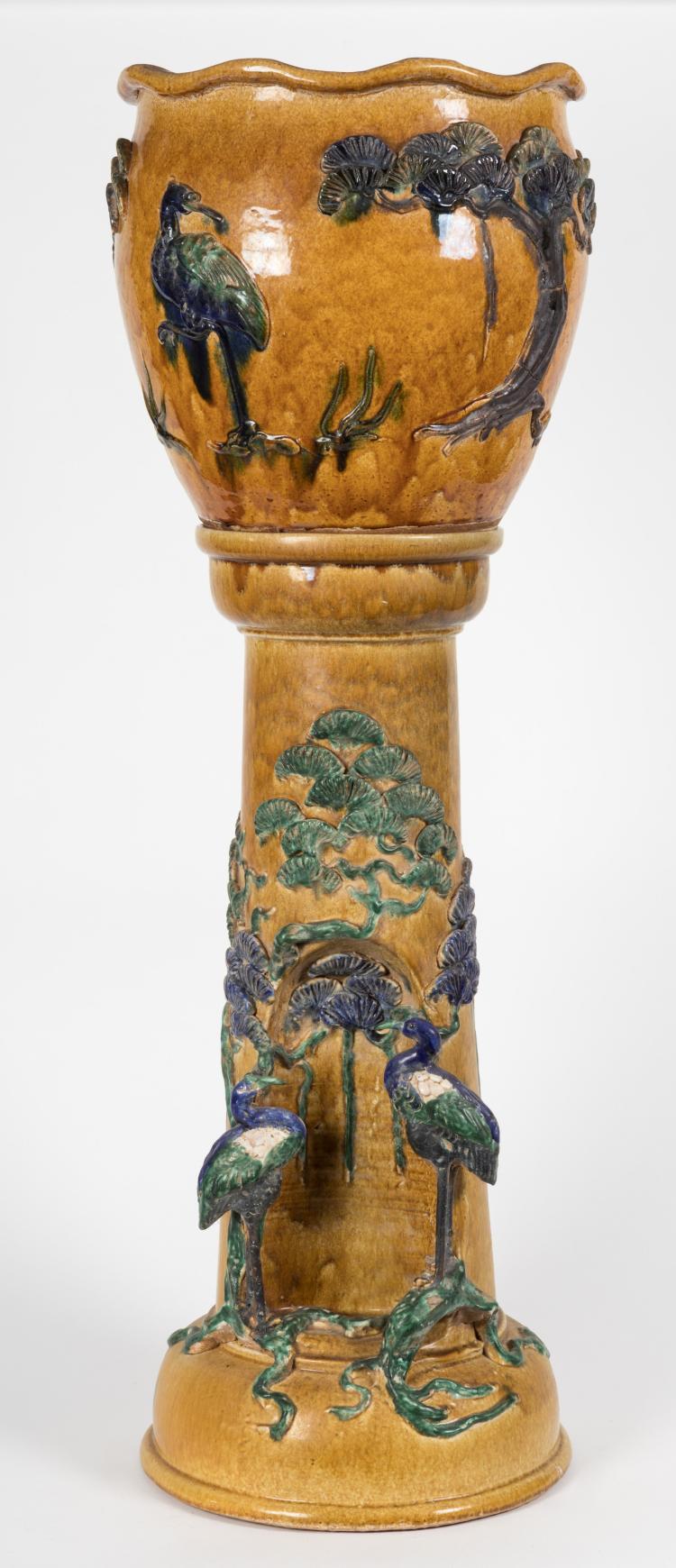 Jardiniere on pedestal for Jardiniere decorative