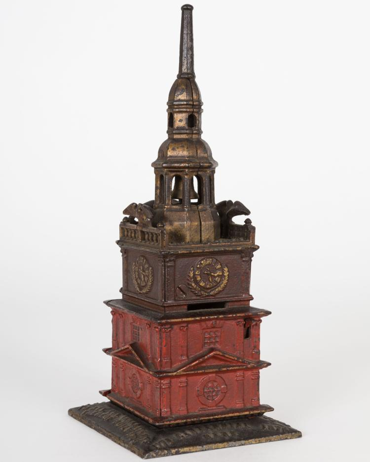 "Cast Iron""Independence Hall Tower"" Bank"