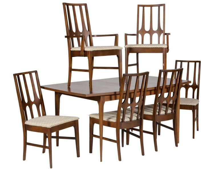 Broyhill Brasilia Dining Table and Six Chairs