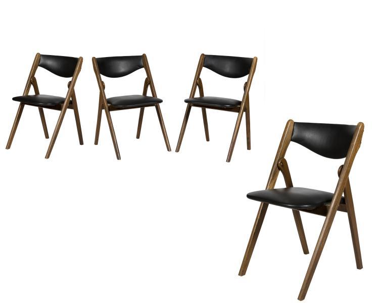 Coronet Wonderfold Bridge Chairs - Four