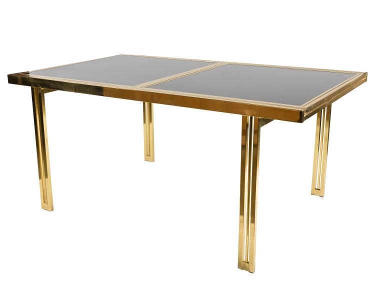 DIA Brass and Glass Refractory Table