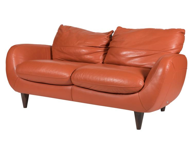 Italsofa Italian Leather Loveseat
