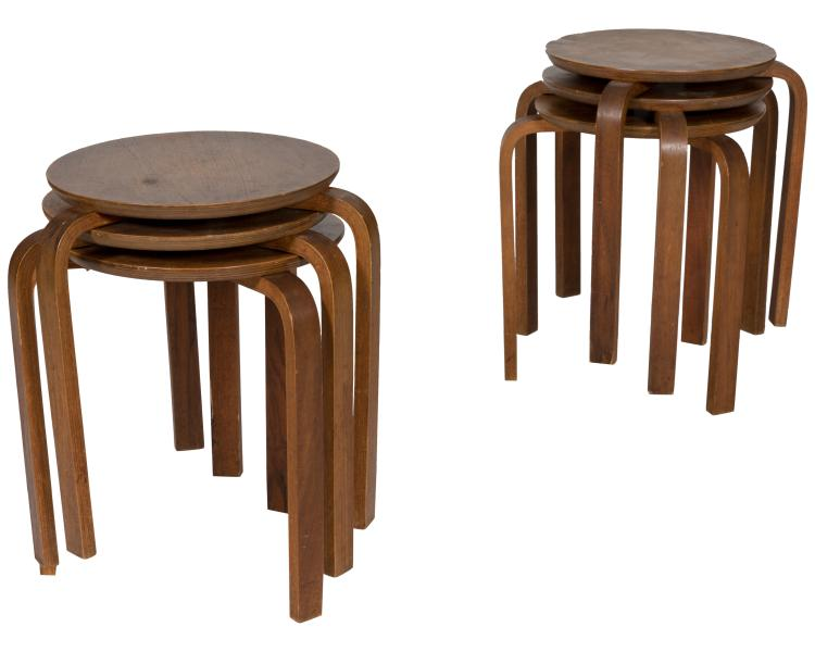 Alvar Aalto Style Nest of Tables - Six