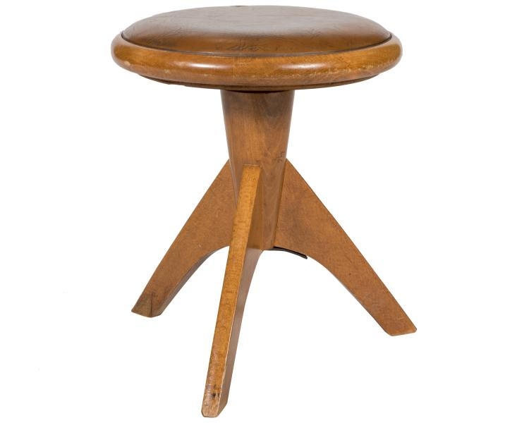 Danish Style Walnut Tripod Stool