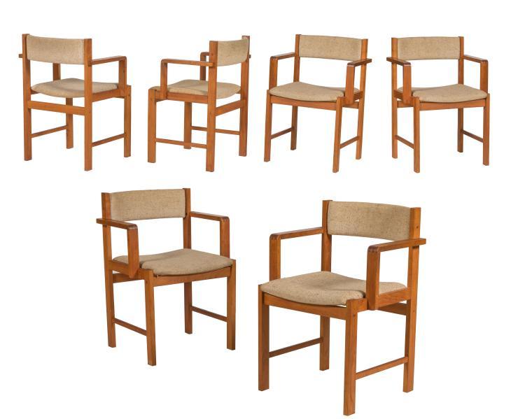 Danish Teak Dining Chairs - Six