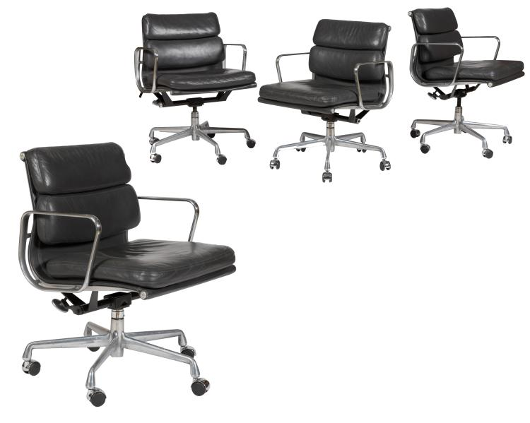 Charles Eames Gray Soft Pad Chairs (435) - Four