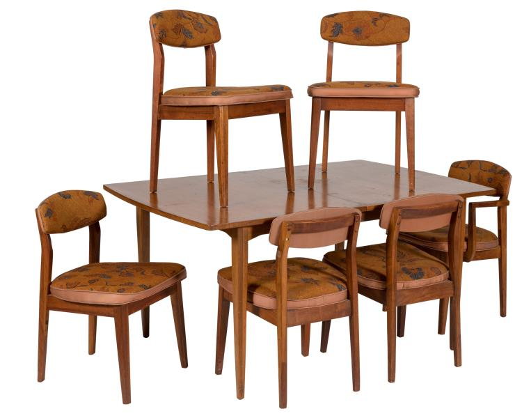 Drexel Dining Table and Six Chairs