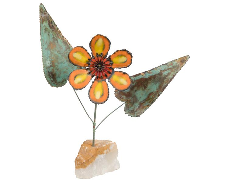 Curtis Jere Flower Sculpture - Signed and Dated