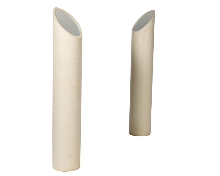 Composition Lipstick Floor Lamps - Pair