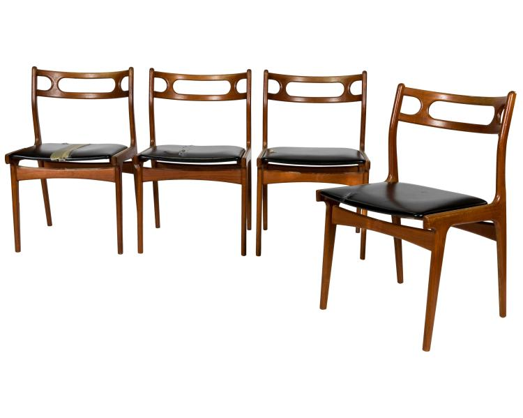 Danish Teak Kitchen Chairs - Four