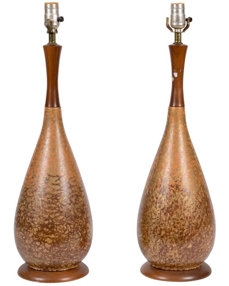 Danish Style Lamps - Pair