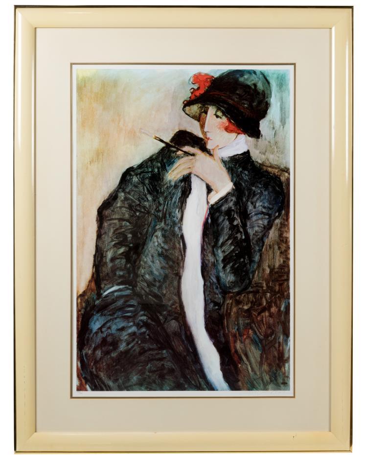 Barbara Wood Lithograph - Signed