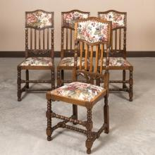 Set of Four Oak Kitchen Chairs