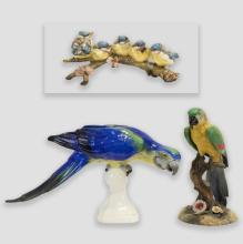Group of Decorative Porcelain Birds