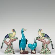 Four Chinese Porcelain Birds