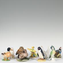 Nine Assorted Porcelain Birds - Boehm