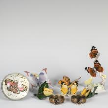 Group of Assorted Butterfly Porcelain - Herrend