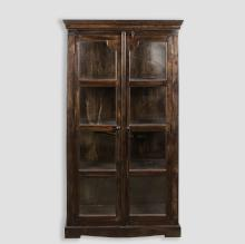 Two Door Curio Cabinet - Eight Pane