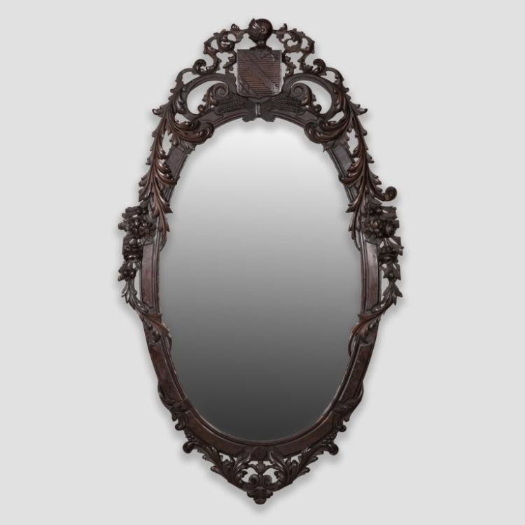 Large Ornately Carved Victorian Mirror
