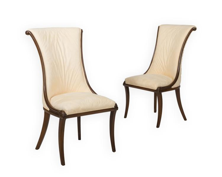 Pair Regency Style Side Chairs