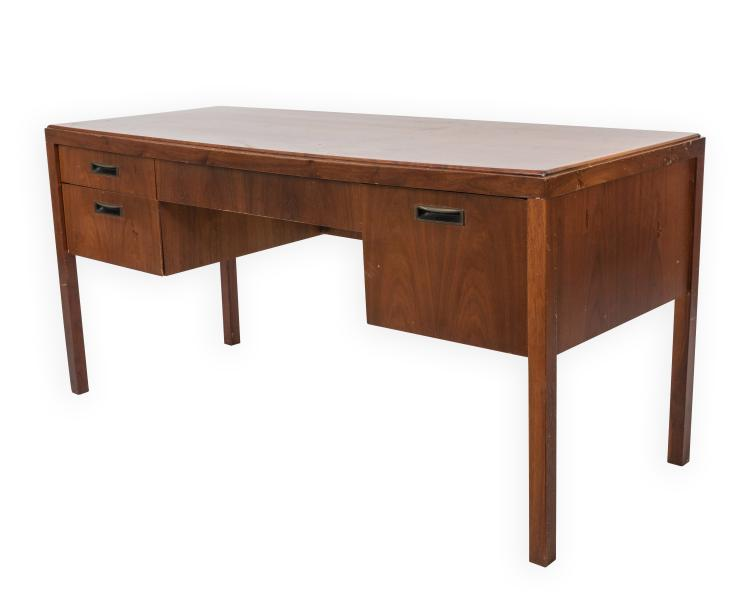 Jens risom style teak office desk - Teak office desk ...