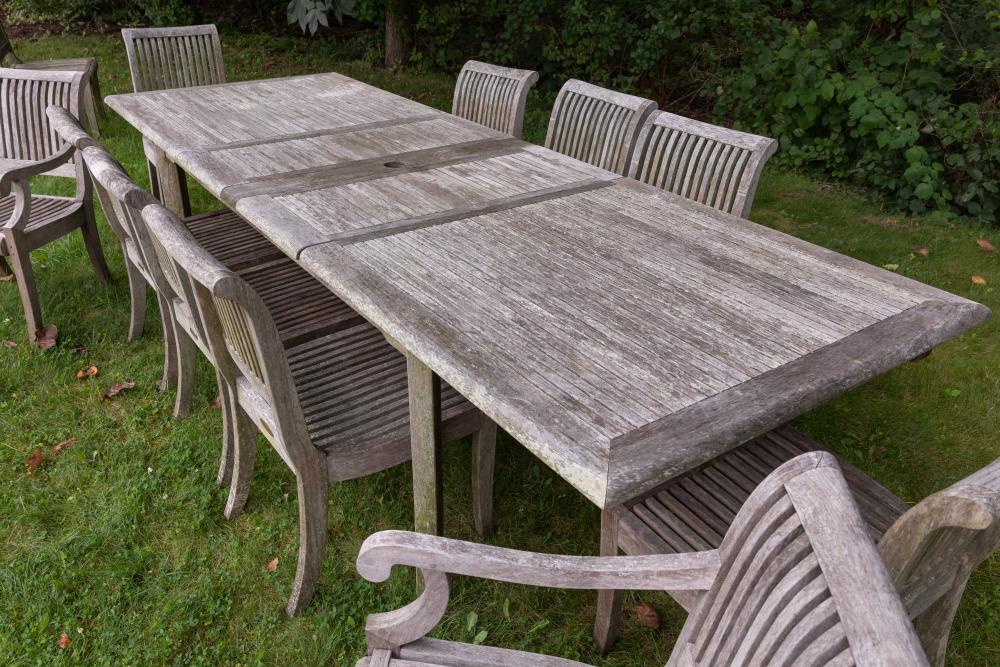 Sold Smith Hawken Teak Table, Smith And Hawken Teak Patio Furniture