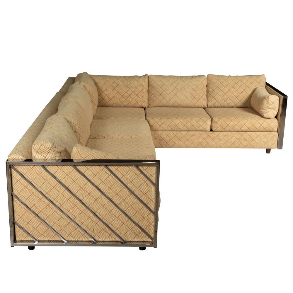 Super Milo Baughman Style Two Part Sofa Creativecarmelina Interior Chair Design Creativecarmelinacom