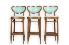 Three Bentwood Stools - After Thonet
