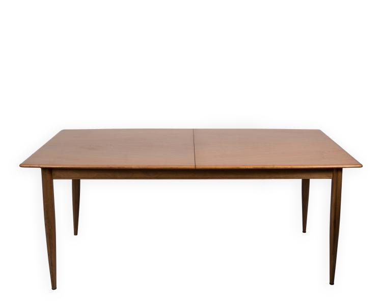 gio ponti style walnut dining room table