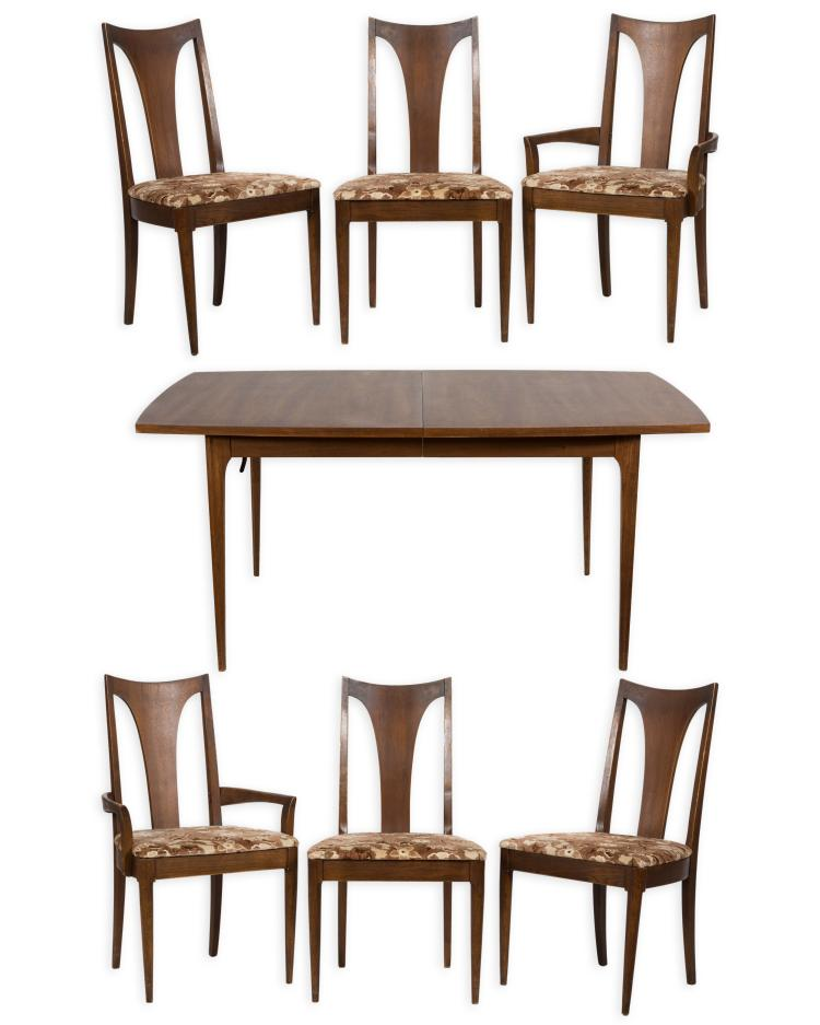 broyhill brasilia dining table and six chairs. Black Bedroom Furniture Sets. Home Design Ideas