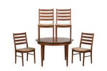 Danish Teak Table and Four Chairs