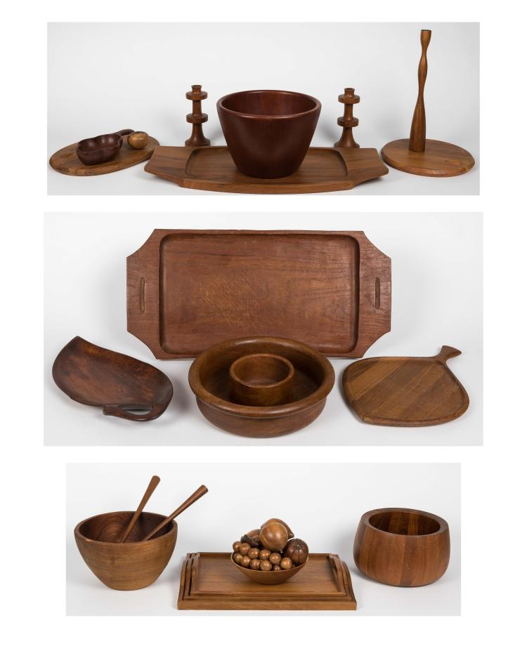Large Group Danish Teak Kitchen Items
