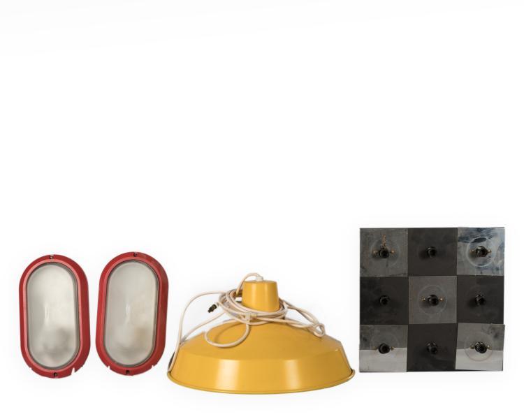 pair prisma delta ovale sconces and two fixtures. Black Bedroom Furniture Sets. Home Design Ideas
