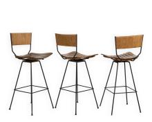 Three Umanoff Swivel Bar Stools
