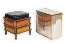 Three Stacking Stool and Hamper