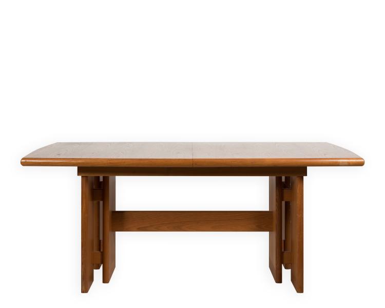 lot 338 danish style teak dining room table