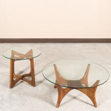 Adrian Pearsall Glass Top Cocktail Table