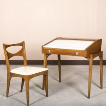 Drexel Mid Century Roll Top Desk and Chair