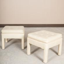 Pair Mid Century Modern Upholstered Benches