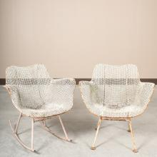 Pair Russel Woodard Sculptura Mesh Chairs
