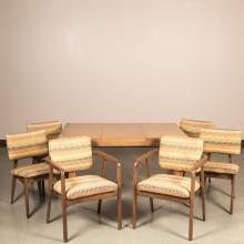 Herman Miller Table and Six George Nelson Chairs