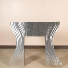 Brushed Steel Mantle / Wall Sculpture