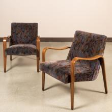 Pair Thonet-Style Bentwood Arm Chairs