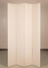 Large Four Panel Upholstered Screen