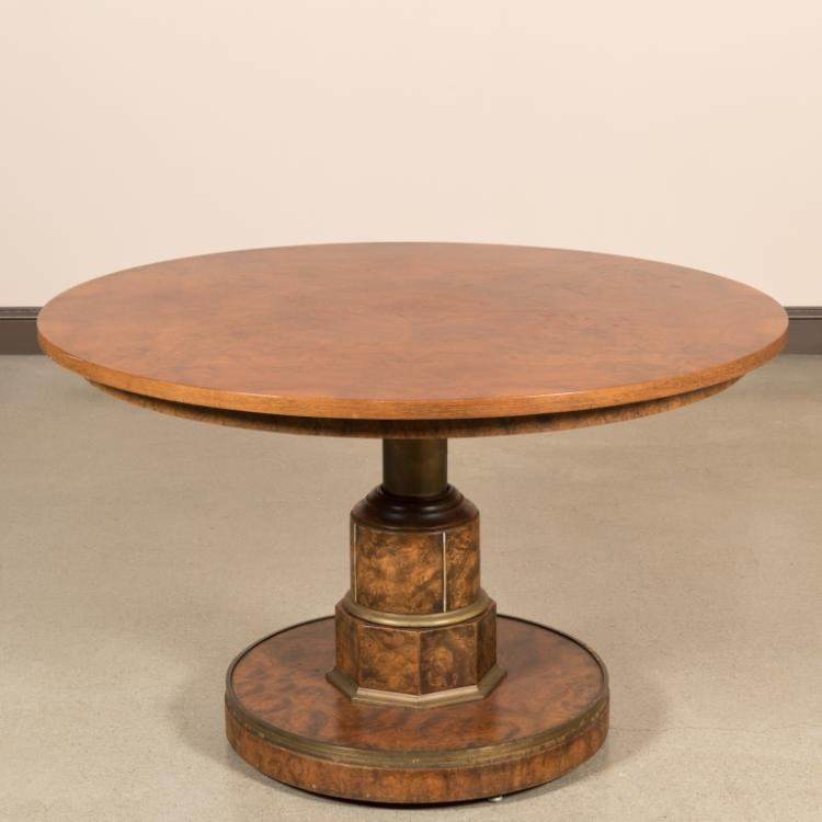 Burled Walnut Adjustable Center Table