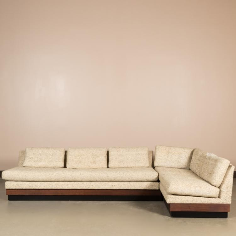 Adrian Pearsall Craft Associates Two Piece Sofa